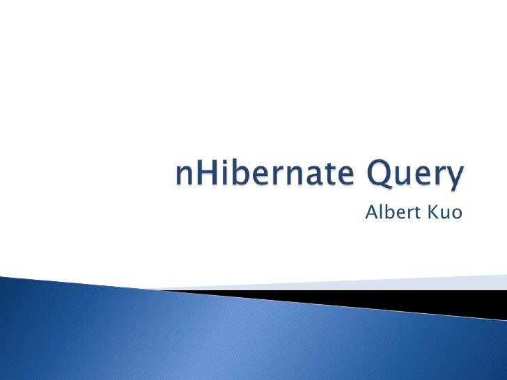 nHibernate Query