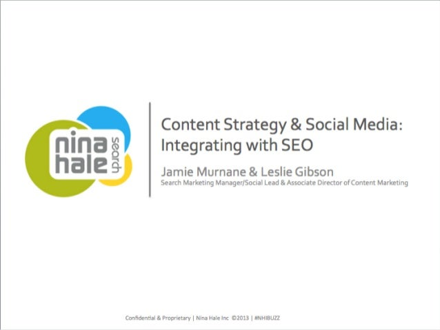 NHI BUZZ- Content Strategy & Social media: Integrating with SEO