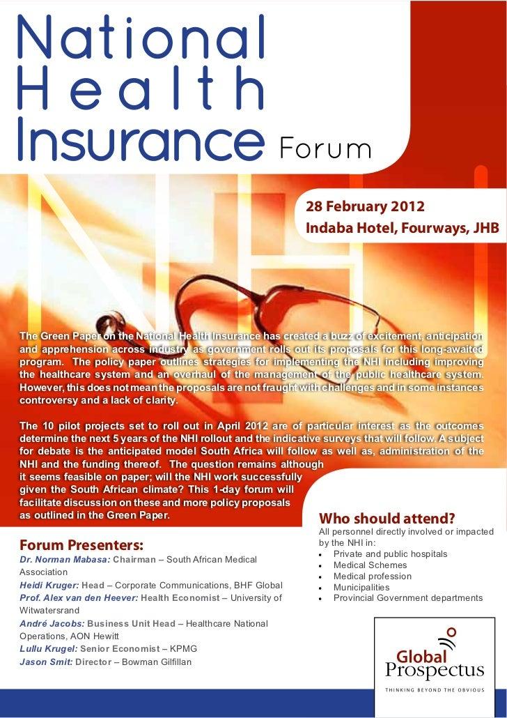 NHI Forum 2012