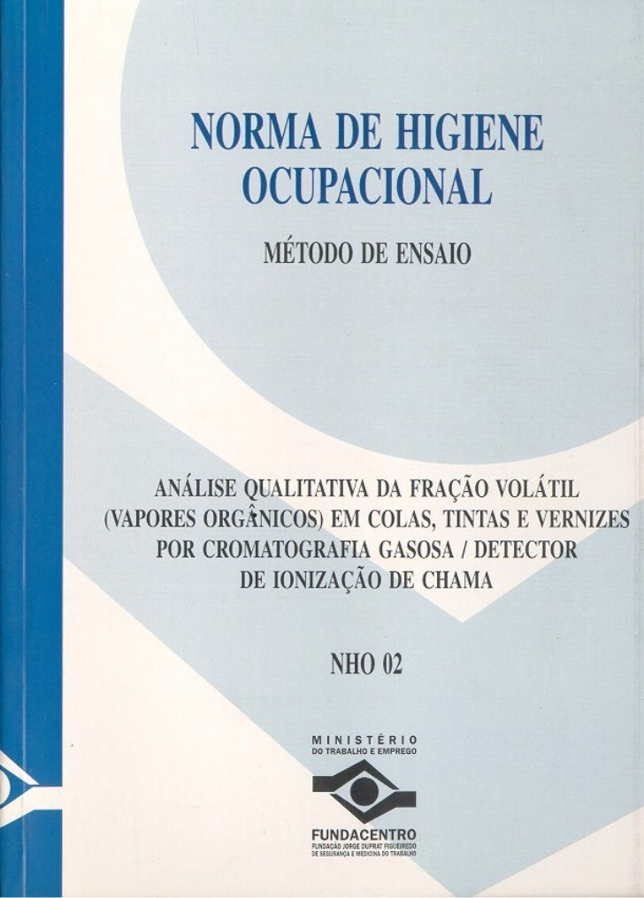 NORMA DE HIGIENE OCUPACIONAL     MÉTODO DE ENSAIO