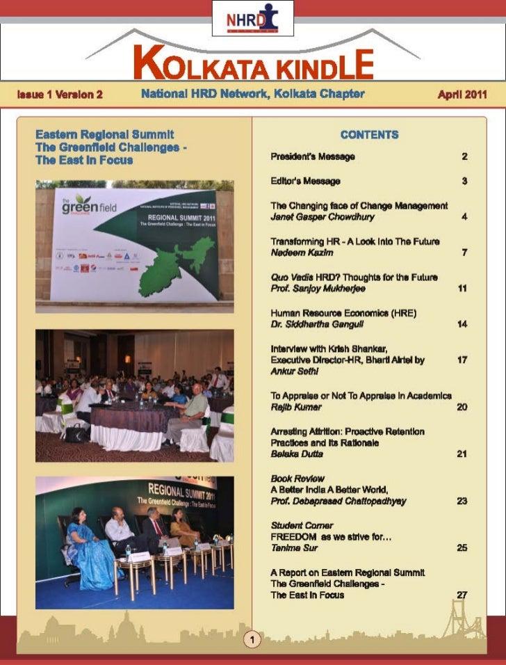 NHRDN Kolkata Chapter's Newsletter Kolkata Kindle Featuring GDGWI's Interview with Krish Shankar, Executive Director - HR,...
