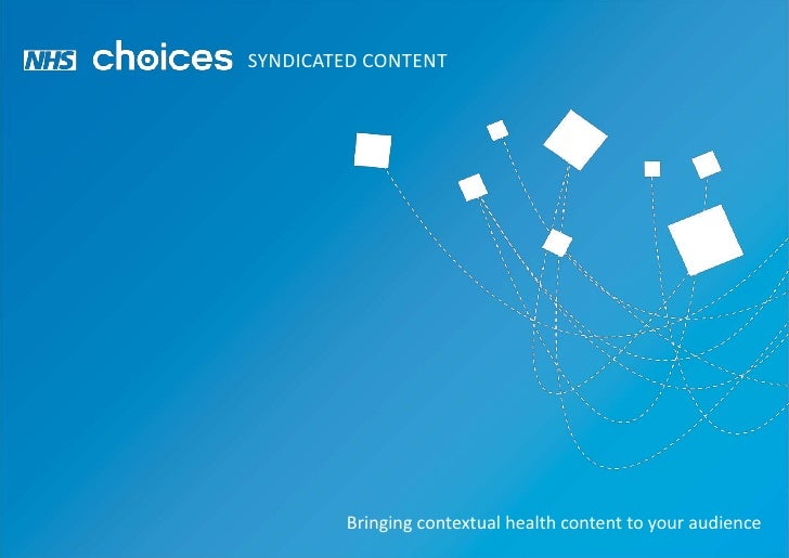 SYNDICATED CONTENT<br />Bringing contextual health content to your audience<br />