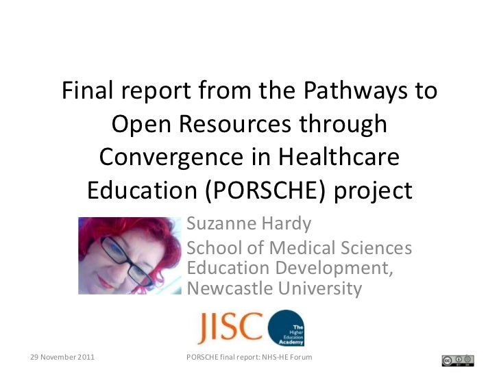 Final report from the Pathways to           Open Resources through          Convergence in Healthcare         Education (P...