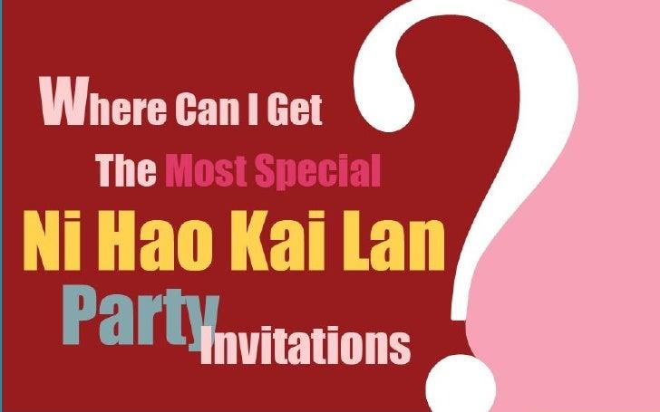 Ni Hao Kai Lan Party Invitations