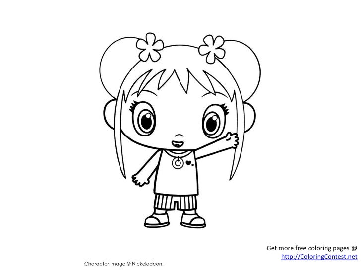 free ni hao kai lan coloring pages