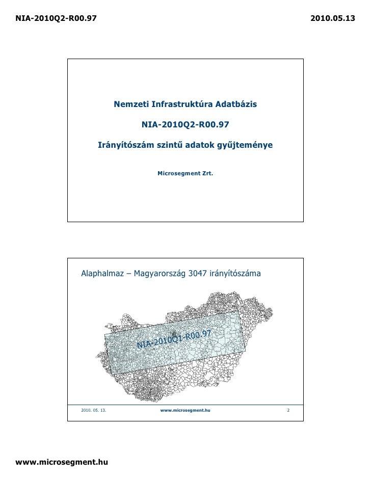 NIA-2010Q2-R00.97                                                   2010.05.13                                  Nemzeti In...
