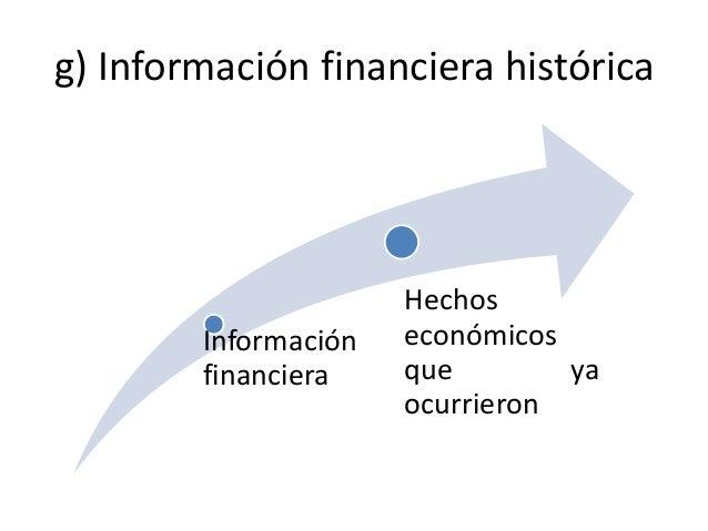 g) Información financiera histórica                      Hechos        Información   económicos        financiera    que  ...