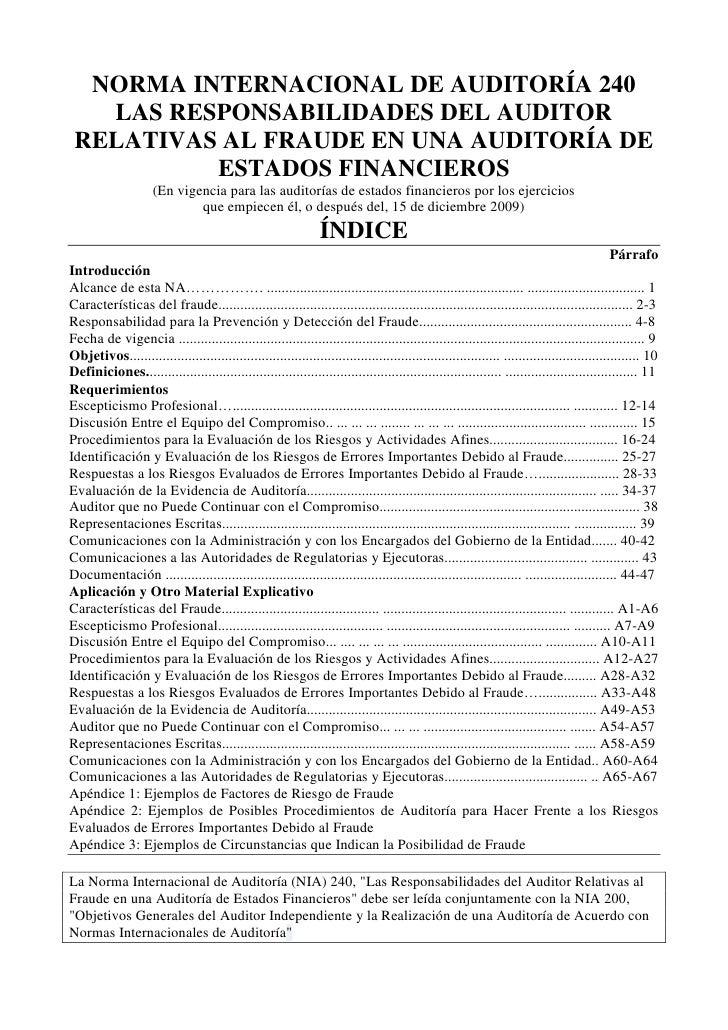 Nia240 las responsabilidades del auditor relativas al fraude en una auditoría de estados financieros-en castellano