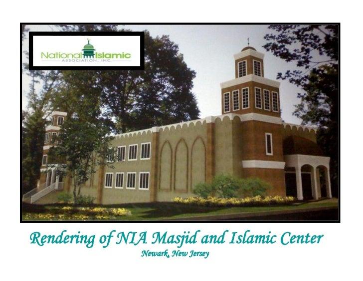 Rendering of NIA Masjid and Islamic Center                Newark, New Jersey
