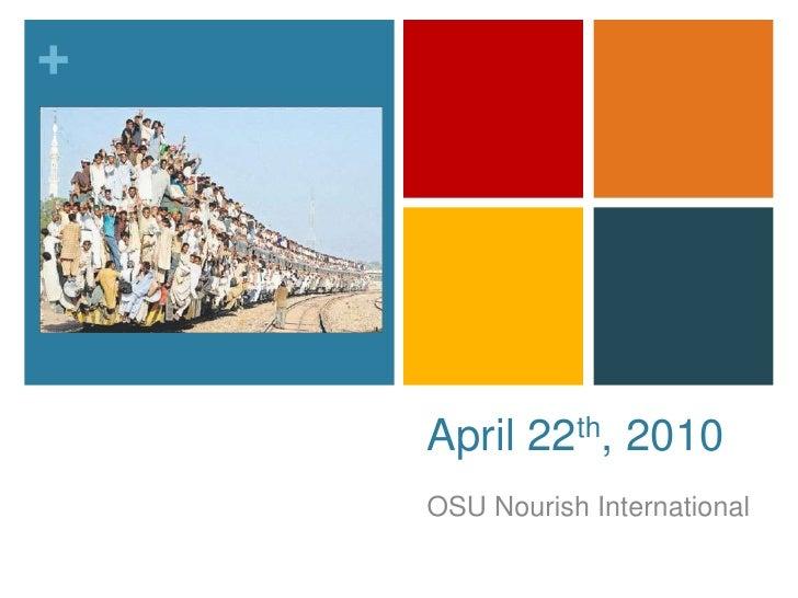 NI April 22nd Meeting