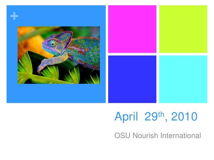 NI April 29th Meeting