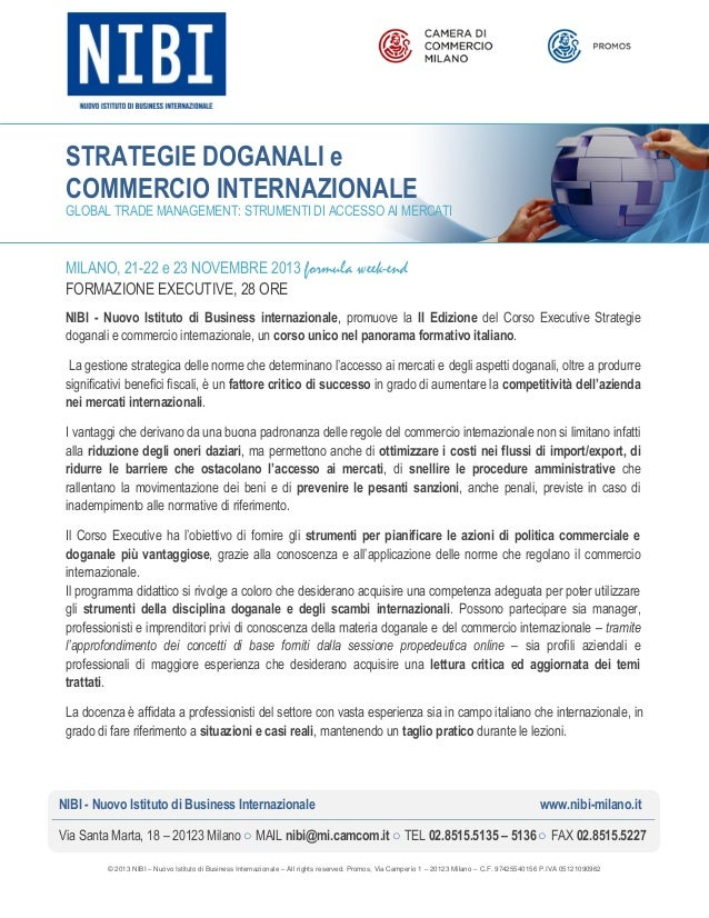 NIBI   Strategie Doganali e Commercio Internazionale