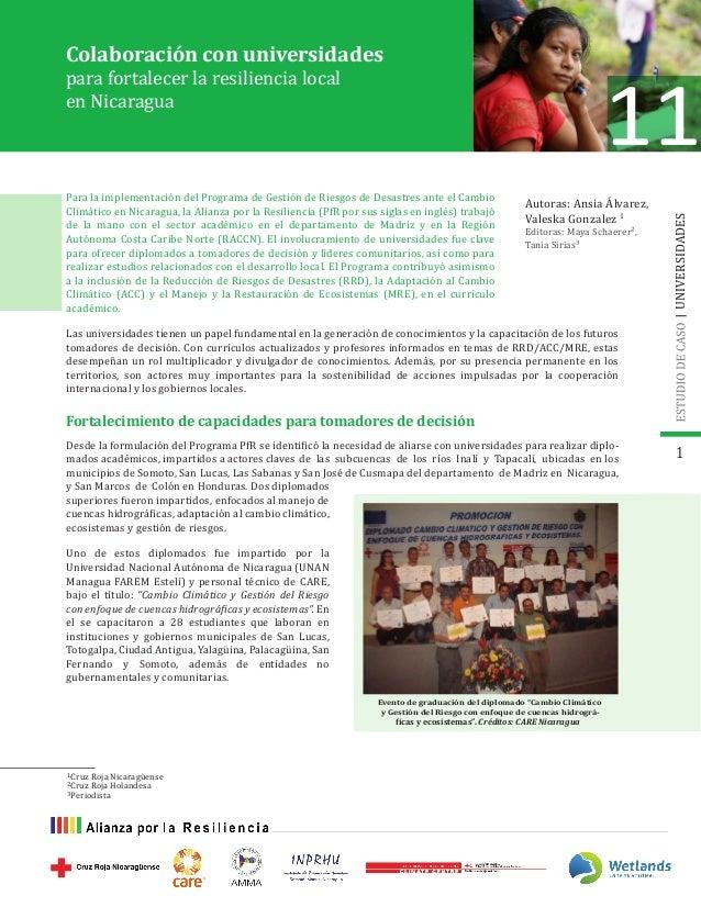 Colaboración con universidades Autoras: Ansia Álvarez, Valeska Gonzalez 1 Editoras: Maya Schaerer², Tania Sirias³ Para la ...