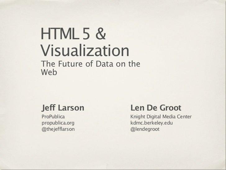 HTML5 & Visualization