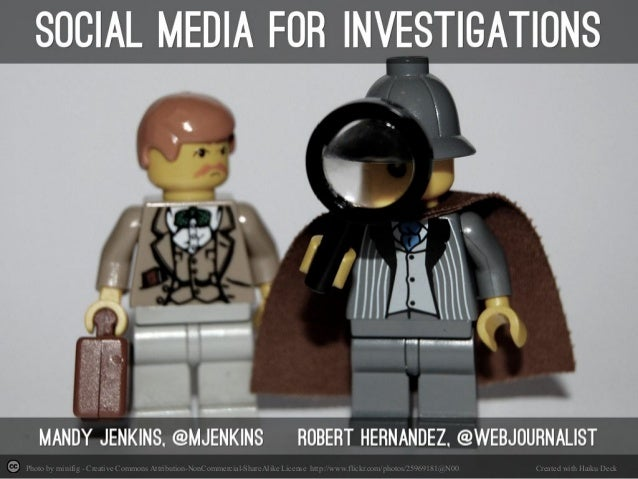 Social Media for Investigations from NICAR14