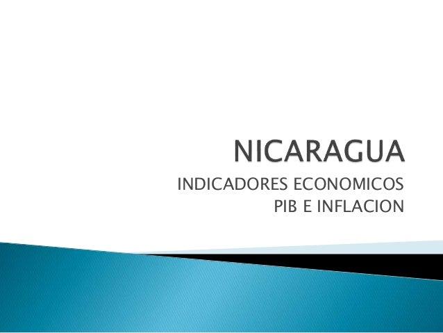 INDICADORES ECONOMICOS PIB E INFLACION