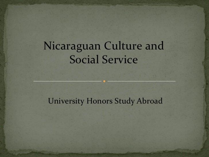 Nicaragua presentation for information sessions