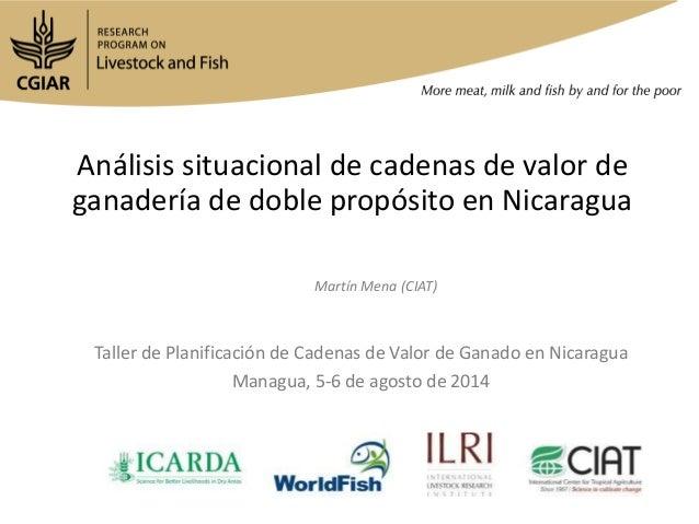 Análisis situacional de cadenas de valor de ganadería de doble propósito en Nicaragua Taller de Planificación de Cadenas d...