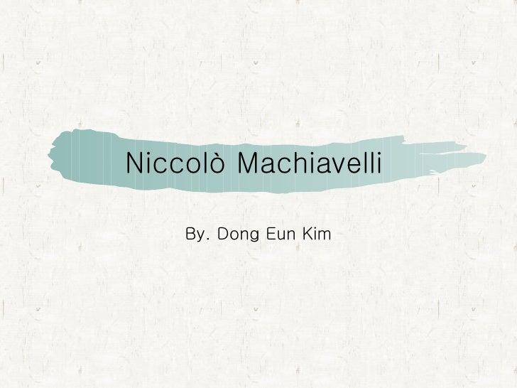 Niccolò Machiavelli by Dong Eun