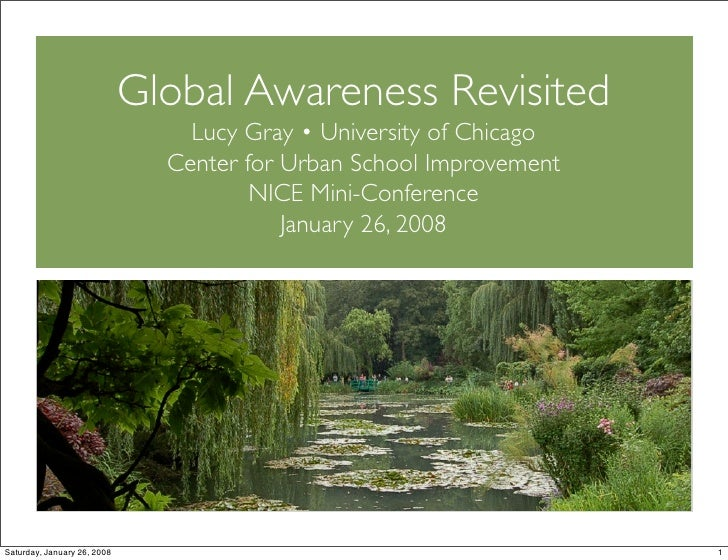 NICE Mini-Conference 2008: Global Awarenes