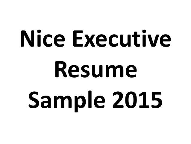 executive resume sle 2015