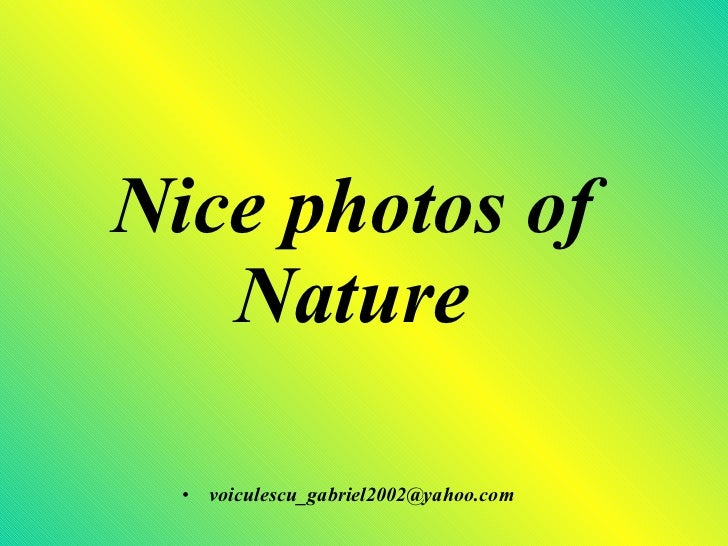 Nice Photos Of Nature