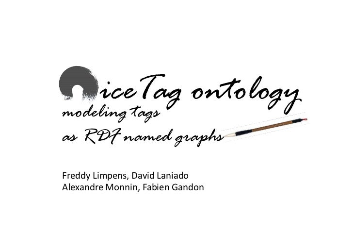 iceTag ontology modeling tags as RDF named graphs Freddy Limpens, David Laniado Alexandre Monnin, Fabien Gandon