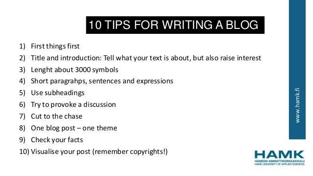 Write for a blog
