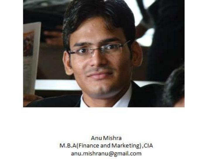 Presented By:Anu Mishra MBA 3rd Sem BU   1