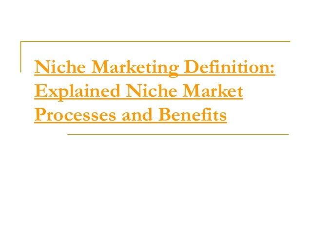 Niche marketing definition