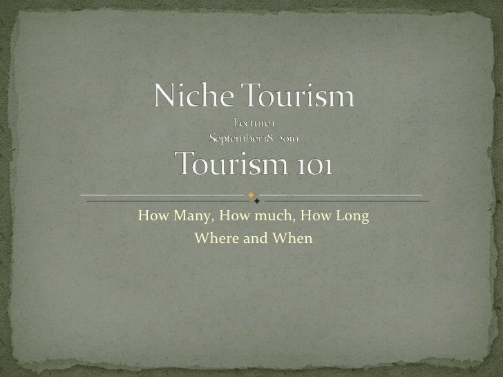 Niche tourism lecture  1