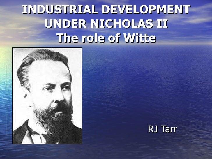 Tsar Nicholas II and Industry