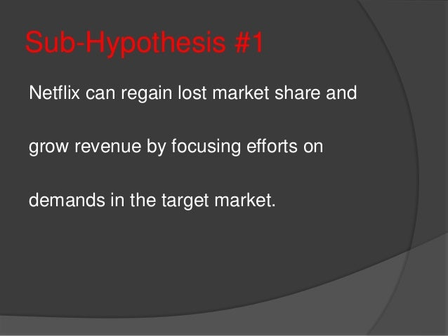 """netflix target market With other services entering the video on-demand market, how has netflix continued to evolve and build its subscriber base cable channels began running series with complex storylines – such as """"the sopranos"""" and """"the shield """" – that were targeted at niche audiences because many of these."""