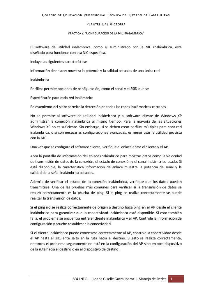 COLEGIO DE EDUCACIÓN PROFESIONAL TÉCNICA DEL ESTADO DE TAMAULIPAS                                     PLANTEL 172 VICTORIA...