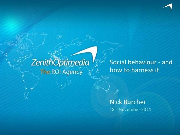 Social Media Behaviour - Nick Burcher - WMG conference Nov 2011
