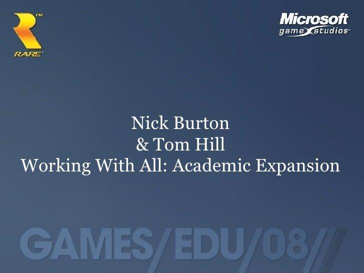 Games:EDU:08 North: Nick Burton