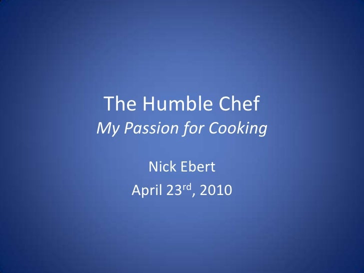 Humble Chef - Ignite Lincoln Presentation