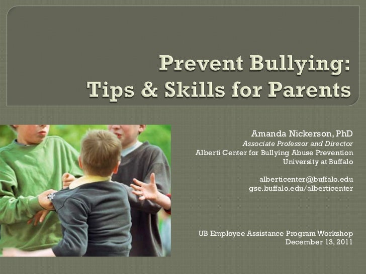 Prevent Bullying: Tips & Skills for Parents