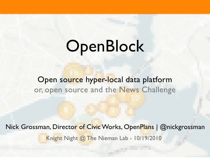 Knight Night: OpenBlock and Open Source in the Knight News Challenge