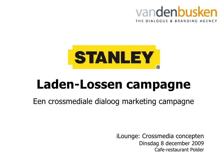 DDMA / Vandenbusken: Crossmedia Marketing