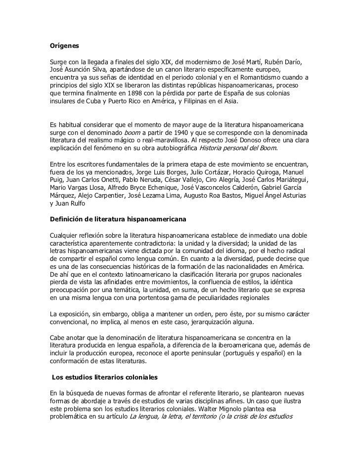 OrígenesSurge con la llegada a finales del siglo XIX, del modernismo de José Martí, Rubén Darío,José Asunción Silva, apart...
