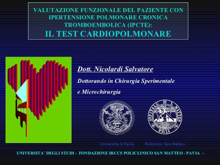 Test Cardio-Polmonare Cteph