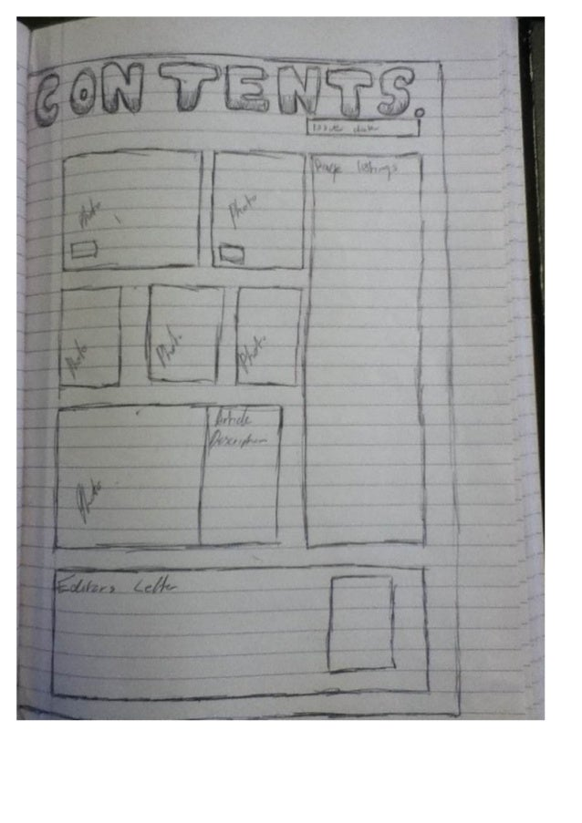 Nicole music mag contents sketch