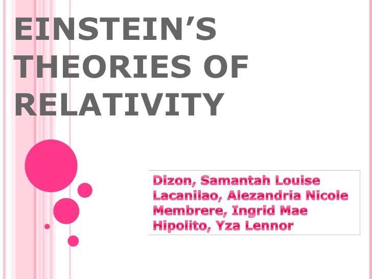 EINSTEIN'S THEORIES OF RELATIVITY