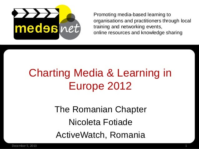 Promoting media-based learning to organisations and practitioners through local training and networking events, online res...