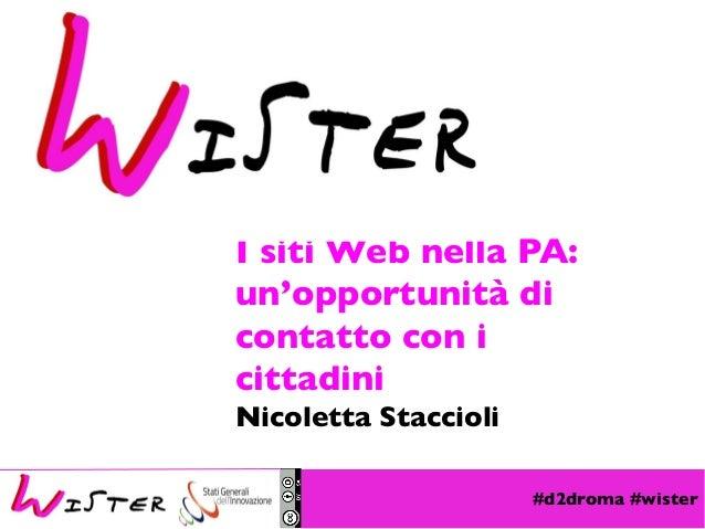 #d2droma #wister Foto di relax design, Flickr I siti Web nella PA: un'opportunità di contatto con i cittadini Nicoletta St...