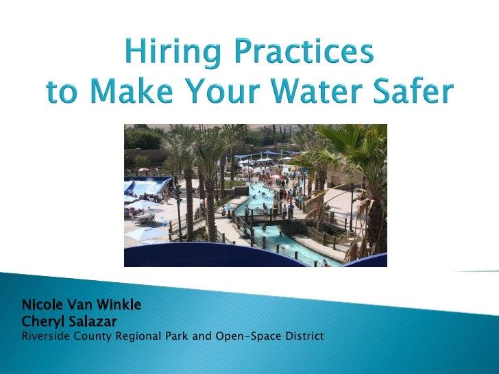 """Nicole Van Winkle & Cheryl Salazar """"Hiring Practices"""" NDPA Symposium 2012"""