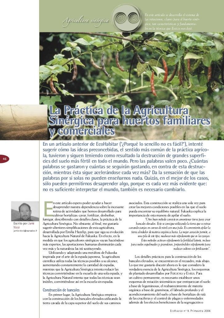 Agricultura sinérgica                                                                                h                    ...