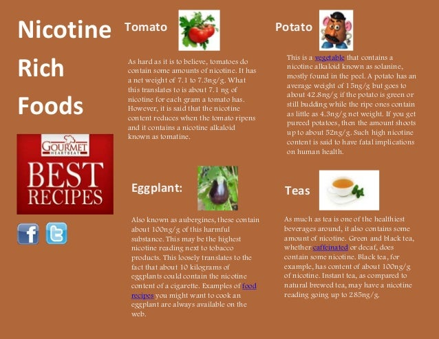 Nicotine rich foods