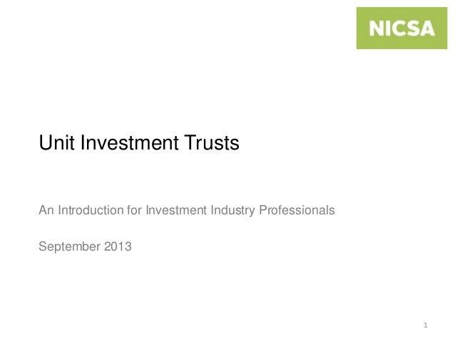 Unit Investment Trusts